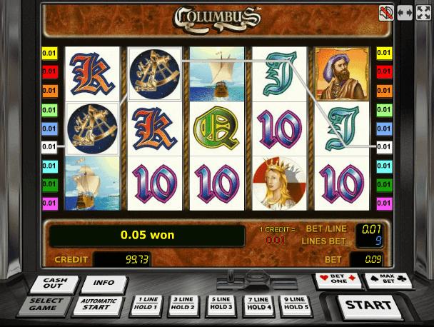 Игровой автомат Колумб Columbus бесплатная игра.